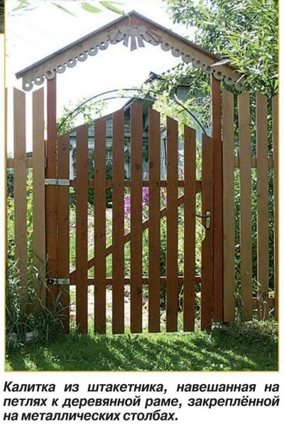 Как сделать ворота из штакетника