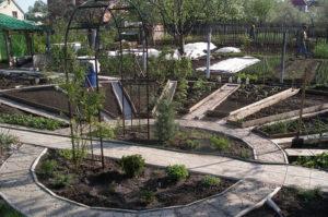 декоративный огород схема